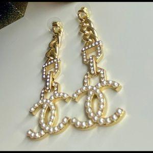 Chanel Chain Drop Earrings